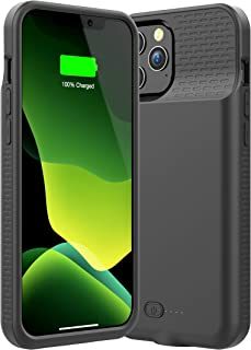 Allezru Battery Case for iPhone 12 Pro/iPhone12, 5000mAh Portable Protective Charger Case Rechargeable Extended Battery Pack Charging Case Compatible with iPhone 12/12 Pro (6.1 Inch)
