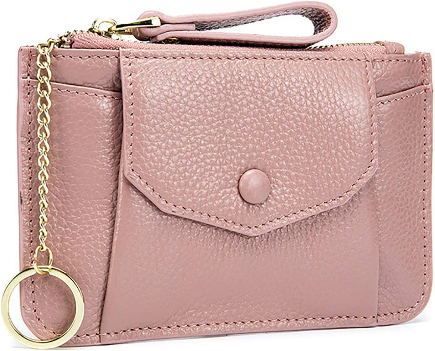 HttKse Coin Purses Wallets Coin Purse Women Leather Change Wallet Coin Pouch Key Bag Small Pocket Wallets with Key Chain Money Clips Coin Pouches (Color : Pink, Size : 15x9.5x1cm)