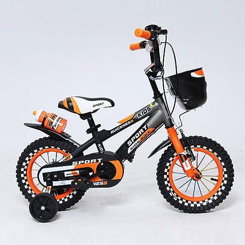 comprar ahora Bicicleta para Niños 12 14 16 pulgadas Pedal de de de Montaña Bicicleta 2-4 3-5 4-7 Cochecito de Niño de un año Acero de alto carbono, verde naranja (Color   12 inch naranja)  Compra calidad 100% autentica