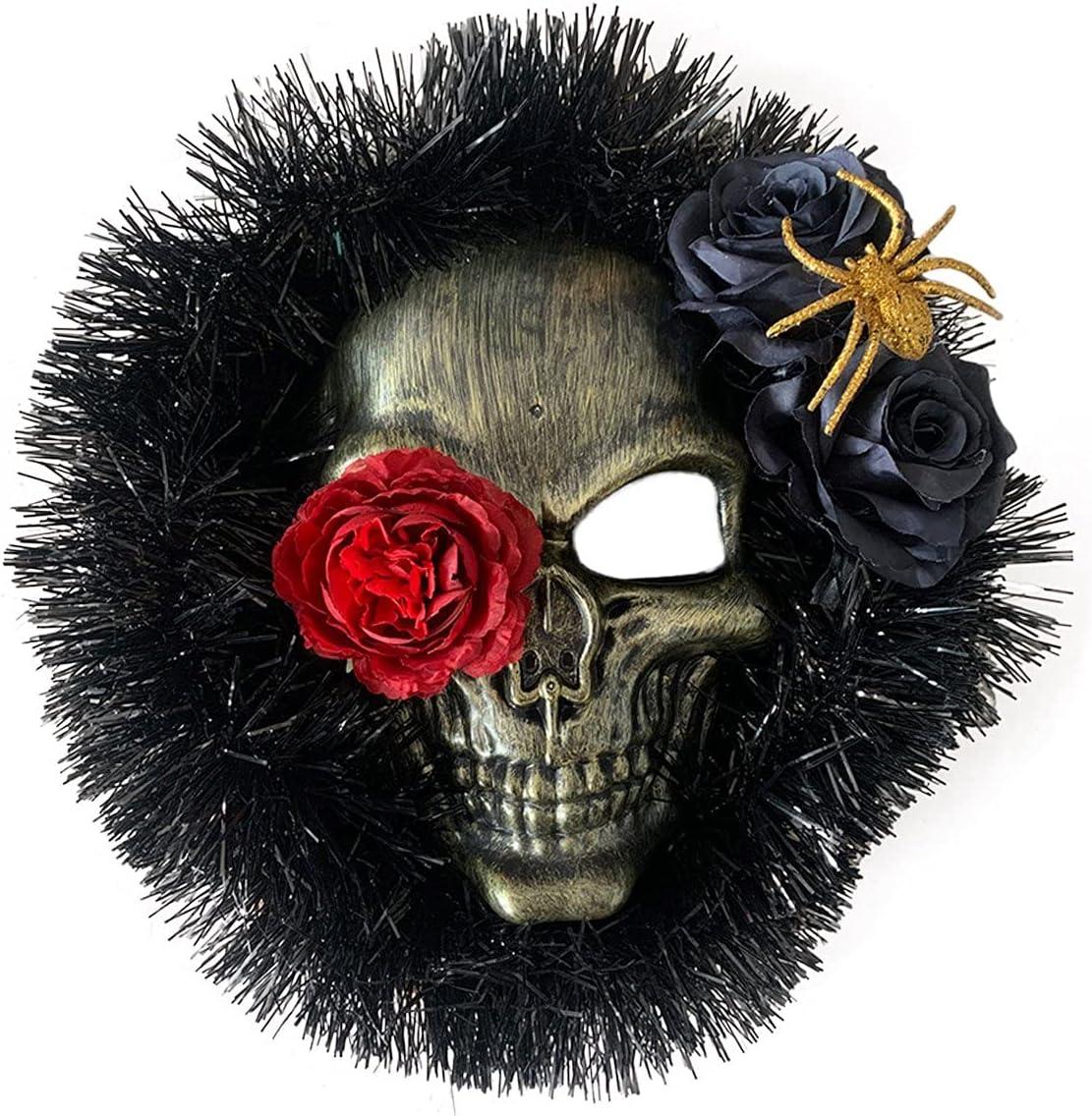 Laurel Halloween Decoration Spider Skull D Pendant Wreath Trust OFFicial store Window