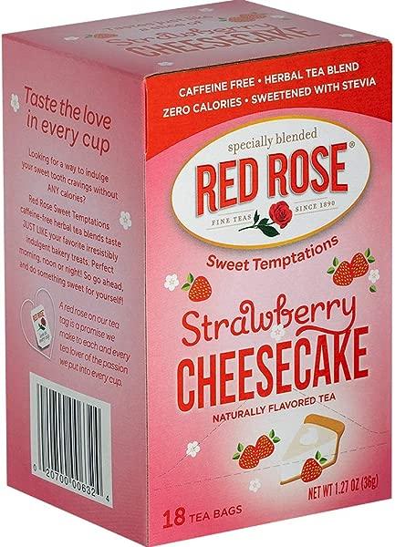 红玫瑰茶甜诱惑茶 6 盒 18 只 108 袋装草莓芝士蛋糕