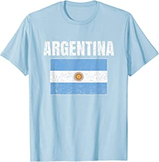 Argentinian Flag Vintage Argentina Map Country Gift T-Shirt