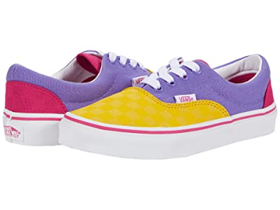 Vans Kids Era (Little Kid) ((Checkerboard) Multi Pop/True White) Girls Shoes