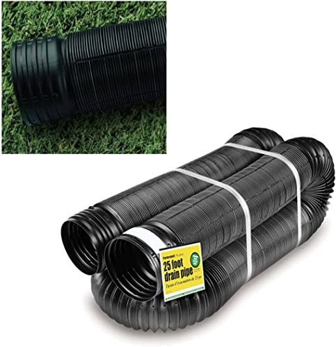 discount Perforated Corrugated popular Expandable Flexible Landscape Drain Pipe, 4-in. outlet sale by 25-ft. outlet online sale