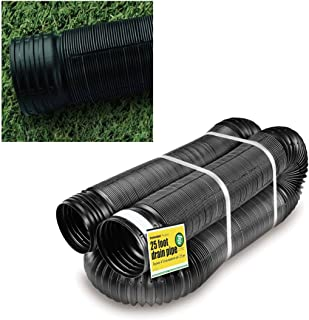 Perforated Corrugated Expandable Flexible Landscape Drain Pipe, 4-in. by 25-ft.