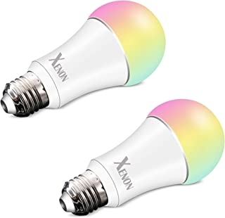 Xenon WiFi Smart LED Light Bulb Compatible with Alexa Echo Remote Control by Smartphone Work with Google Assistant,Multi Light Color,6W,2 Packs …