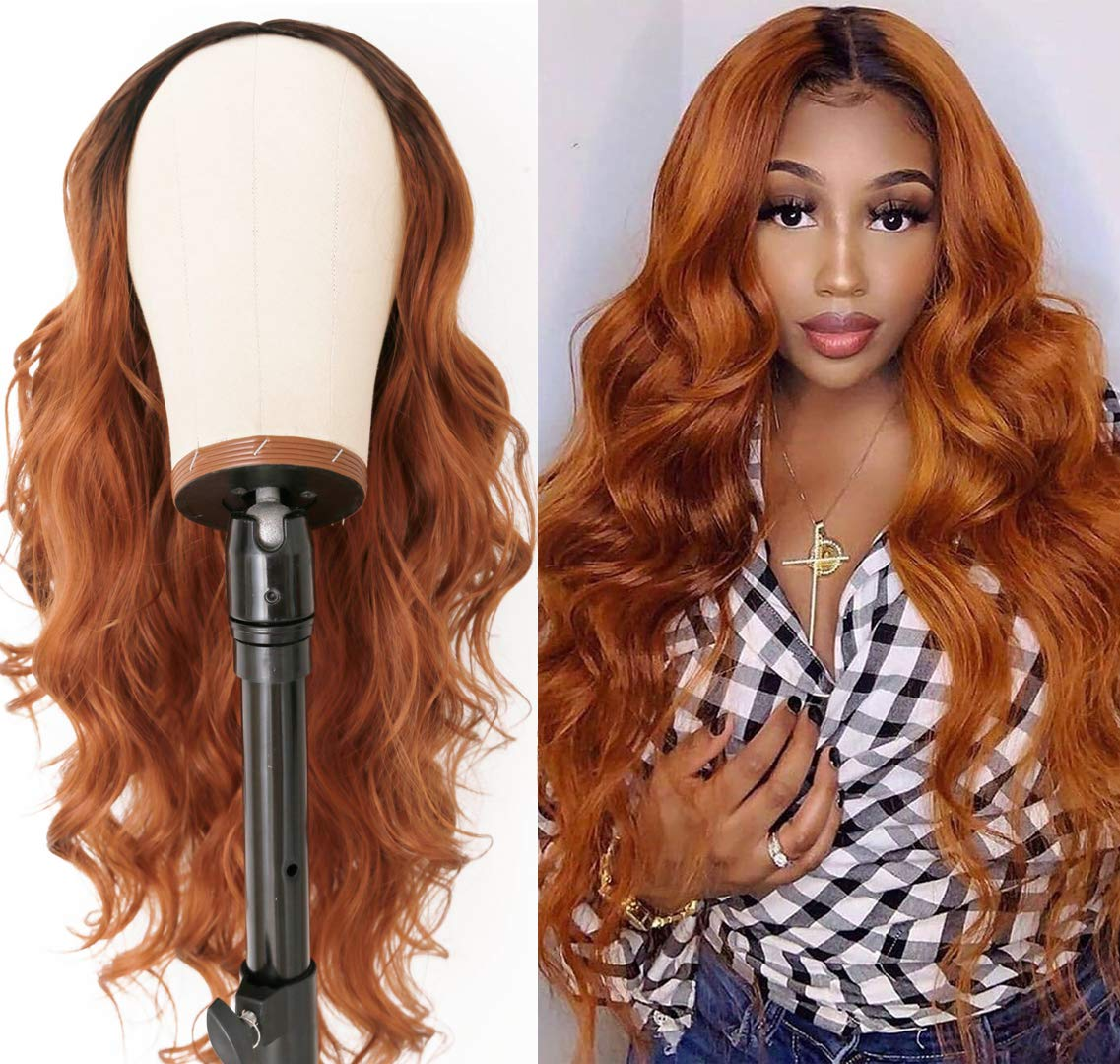 HILYN Popularity Orange Brown Wigs Long Loose Curly Fibe Wavy Wig Portland Mall Synthetic