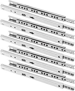 FURNICA 10x Guía para cajón ranurado H17mm / L: 310mm