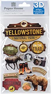 national park stickers scrapbooking