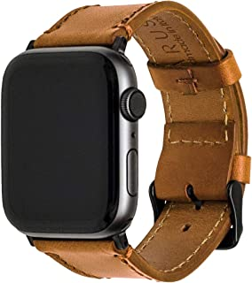 Leather Watch Band with Italian Vachetta Leather & Classic Buckle, Compatible with Apple Watch, Durable Chemical-Free Sustainable Leather Handmade in Italy