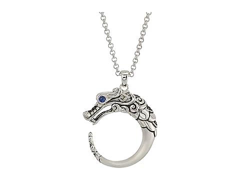 John Hardy Legends Naga Brushed Pendant Necklace with Gemstone