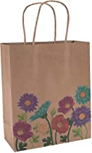 Fun Express - Med Love In Bloom Craft Bags for Wedding - Party Supplies - Bags - Paper Gift W & Handles - Wedding - 12 Pieces