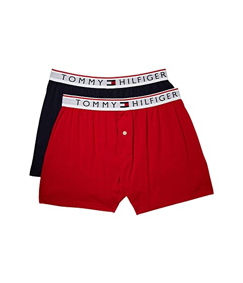 Tommy Hilfiger Modern Essentials 2-Pack Knit Boxers Brick Hot Sale Cheap Online Clearance Genuine Buy Cheap Low Cost zGnkiIo38
