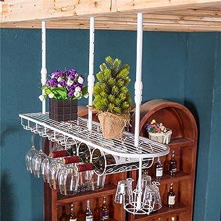 Rangement Cuisine Organisation Murale Industrielle Mounted Forgé Loft Métal Bouteille De Vin Porte-gobelet Suspendu Compto...