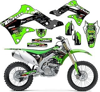 Team Racing Graphics kit compatible with Kawasaki 1996-1998 KX 125/250, SCATTER