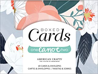 One Canoe Two Twilight Cards & Envelopes, Multicolor