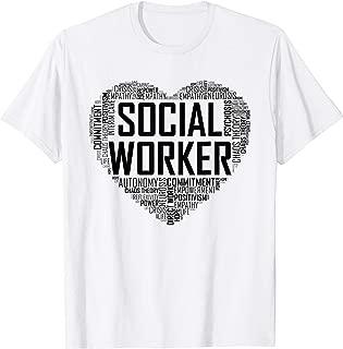 Social Worker Gift Month Love  T-Shirt