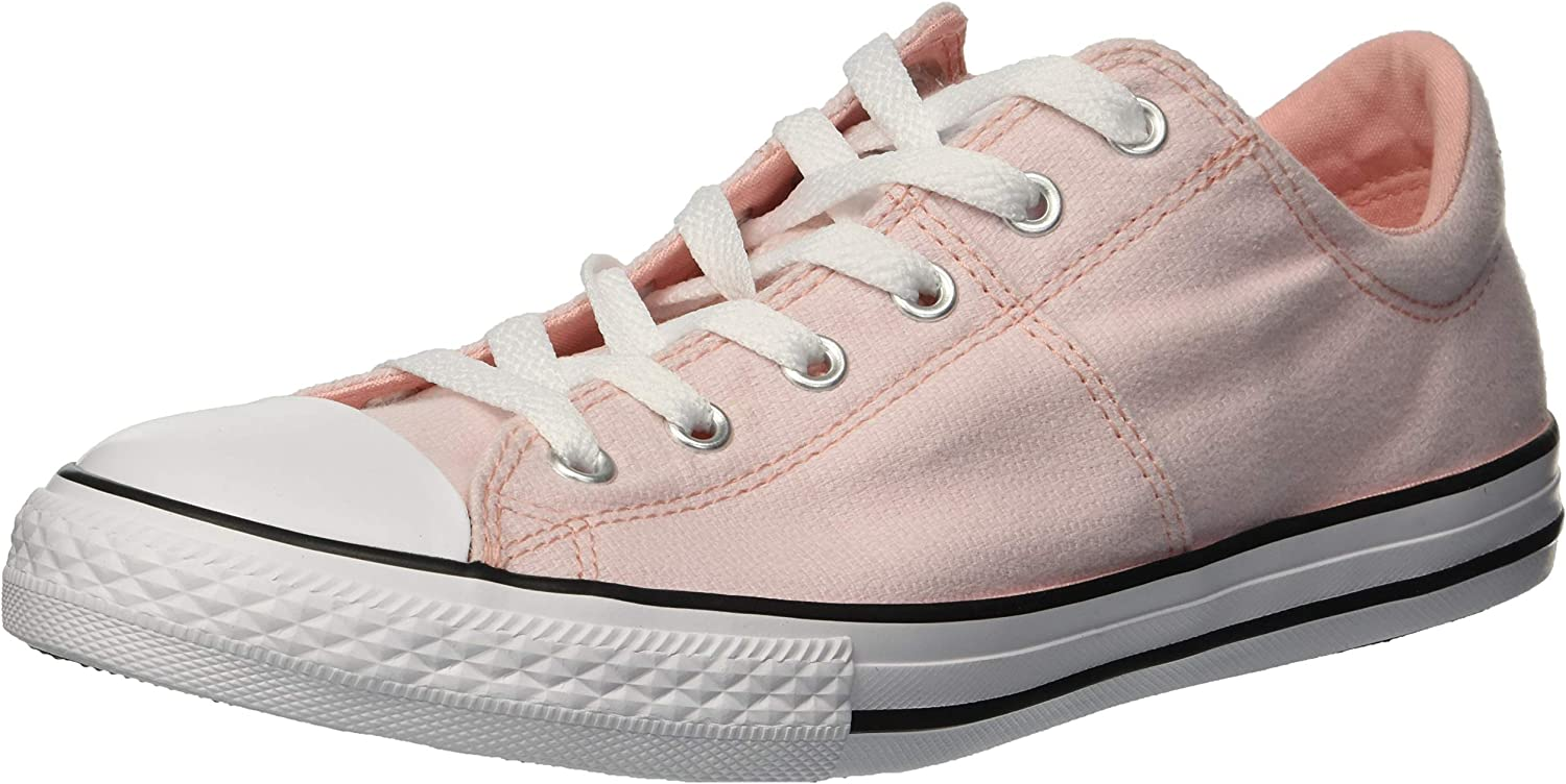 Converse Girls' Chuck Taylor All Star Madison Low Top Sneaker, Storm Pink White, 11 M US Little Kid