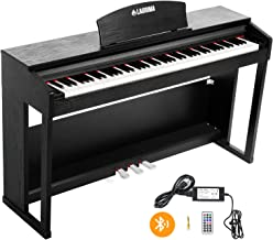 LAGRIMA 88 Key Weighted Digital Piano w/Bluetooth&MP3 Function, Remote Control, Power Supply, 3 Pedals, Instruction Book, MIDI/Headphone/Audio Output Feature, Suit for Kids, Teen, Adult, Beginner
