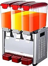 Machine à boissons commerciale à trois cylindres en acier inoxydable 9L chaud et froid boisson au thé glacé froid jus frui...