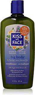 Kiss My Face Big Body Conditioner, Lavender & Chamomile 11 oz (Pack of 3)