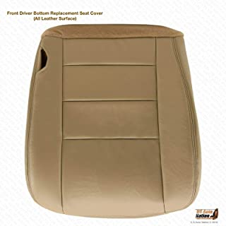 US Auto Nation Fits Ford F250 F350 Lariat Driver Side Bottom Leather Seat Cover Tan