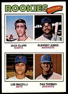 1977 Topps #488 Jack Clark/Ruppert Jones/Lee Mazzilli/Dan Thomas Rookie Outfielders Near Mint RC Rookie