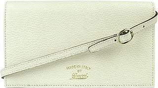 Gucci Women's Swing Creamy White Leather Crossbody Clutch Wallet 368231 9022
