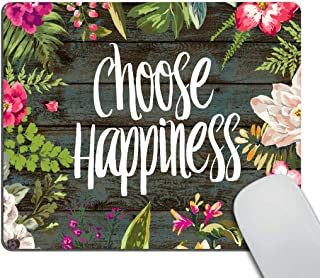 Smooffly Funny Quote Gaming Mouse Pad Custom,Chaos Coordinator Quotes Vintage Colored Floral Wreath Print Rustic Old Wood Art Mouse Pads