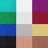 SISER Glitter Heat Transfer Vinyl for T-Shirts, 12 Pack
