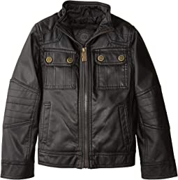 Chadwick Faux Leather Bikers Jacket Quilted Shoulders (Little Kids/Big Kids)
