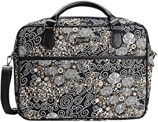 Signare Gobelin Laptop Tasche Laptoptasche 15.6 Zoll, Notebook Tasche 15.6 Zoll Business Taschen Damen mit Farbmuster Designs Klimt