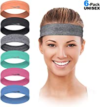 Sweatband for Women Stretchy Soft Athletic Head Band for Workout Sports Red GOOD