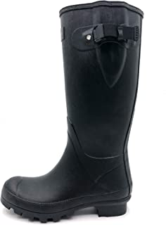 53b26fff218f4 Rongee Women's Rubber Rain Boots Rainboots Women Ladies with Adjustable  Gusset Oxford Bag Packed