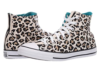 Converse Chuck Taylor All Star Leopard Print Hi (Driftwood/Black/Light Fawn) Athletic Shoes