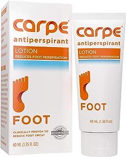 Carpe Antiperspirant Foot Lotion (Prevent Sweaty Feet, Block Sole Sweat)