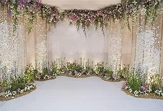 Leyiyi 10x6.5ft Photography Background Wedding Ceremony Backdrop Marriage Engagement Celebration Flower Blossom Arch Door 3D Hall Decoration Sequins Shine Flower Photo Portrait Vinyl Studio Prop