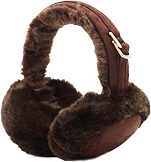 Lovful Womens Girls Winter Warm Crocheted Knitted Faux Fur Plush Ear Warmers Earmuffs