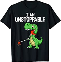 Cute & Funny I Am Unstoppable T-Rex Dinosaur Grabber Pun T-Shirt