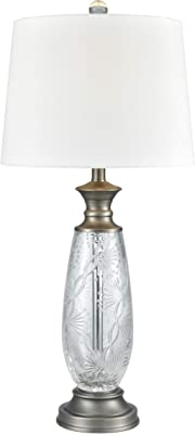 """Dale Tiffany SGT17163 Impressionable Table Lamp, 30.5"""" High, Crystal"""