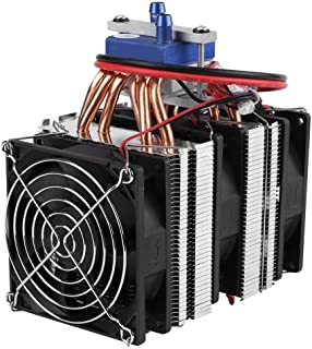 DC 12V Thermoelectric Cooler Peltier System Semiconductor Refrigeration Water Chiller Cooling Device for Fish Tank(180W (for 40L tank))