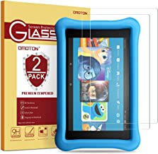 [2 Pack] OMOTON Tempered Glass Screen Protector for Fire HD 8 / Fire HD 8 Kids Edition..