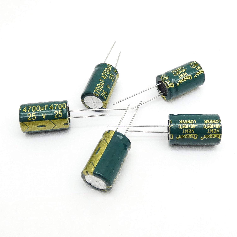 5pcs 4700uF 25V 16X25 Radial Electrolytic Capacitors Low ESR