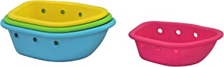 green sprouts Floating Boats 4 Piece Set for 6 Months Plus Babies, Multicolor, 4 Count