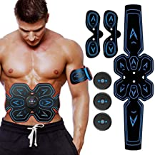 ABS Stimulator Muscle Toner,Rechargeable Ab Machine,Abdominal Muscle Stimulator, Electric Ab Stimulator for Women and Men ...