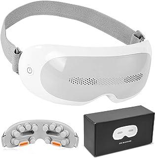 ماساژور Gexmil با ماساژ چشم ، گرما ، فشرده سازی ، بینایی چشم برای خواب ماساژ شارژی برای بهبود خواب تسکین چشم ، حلقه های تیره ، کیف چشم چشم خشک چشم
