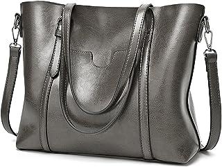 UTO Women Tote Bag Soft PU Leather Shoulder Bags Large Capacity Shopper Handbag
