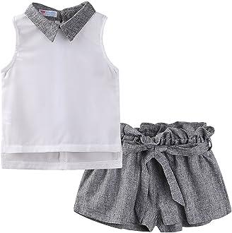 Mud Kingdom Girls Cat /& Fish Denim Button Down Shirt