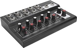 Stereoljudmixer, metallljudmixer, 10-kanaliga ljudenheter karaoke mikrofonförstärkarkonsol för karaoke Small Studio hemma...