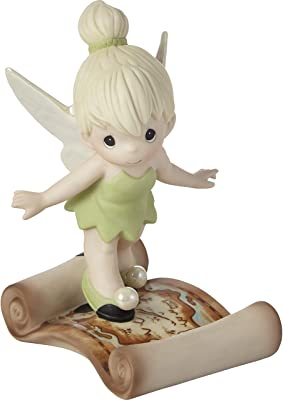 Precious Moments 202035 Disney Tinker Bell Faith, Trust, and Pixie Dust Bisque Porcelain Figurine, One Size, Multicolored